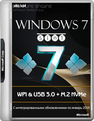Windows 7 SP1 x86/x64 5in1 WPI & USB 3.0 + M.2 NVMe by AG 01.2019 (RUS/ENG)